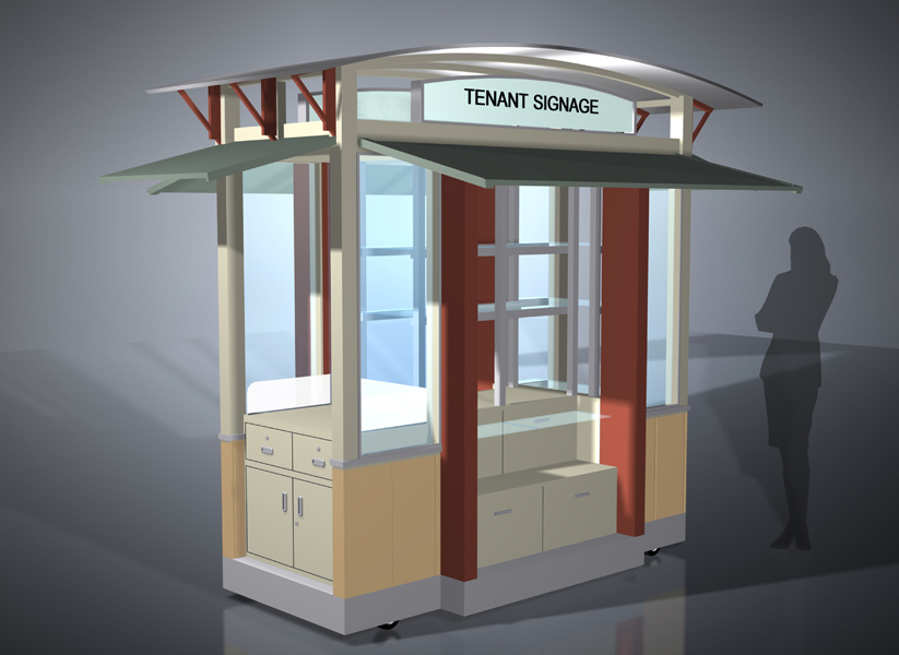 Beig design for Architecture kiosk design